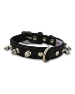 Angel Rotterdam Spiked Dog Collar - Midnight Black