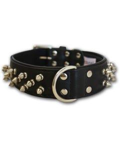 Angel Amsterdam Spiked Dog Collar - Midnight Black