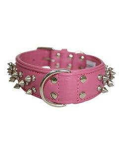 Angel Amsterdam Spiked Dog Collar - Bubblegum Pink