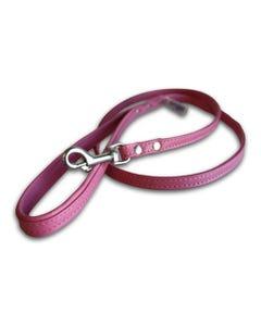 Angel Alpine Leather Dog Leash - Bubblegum Pink