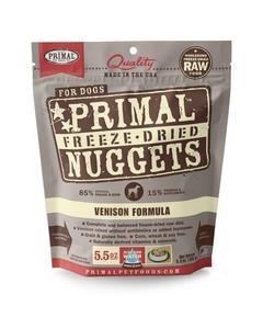 Primal Canine Freeze-Dried Nuggets - Venison Formula