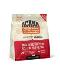 Acana Bone Broth Infused Freeze-Dried Patties for Dogs - Ranch Raised Beef Recipe