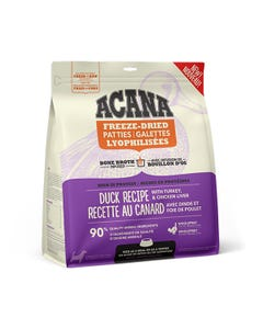 Acana Bone Broth Infused Freeze-Dried Patties for Dogs - Duck Recipe With Turkey & Chicken Liver