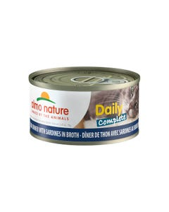 Almo Nature Daily Complete Canned Wet Food for Cats - Tuna Dinner with Sardines in Broth