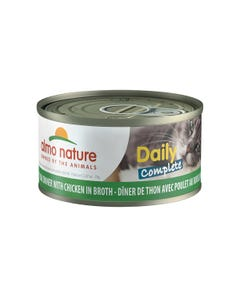 Almo Nature Daily Complete Canned Wet Food for Cats - Tuna Dinner with Chicken in Broth