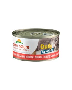 Almo Nature Daily Complete Canned Wet Food for Cats - Tuna Dinner with Salmon in Broth