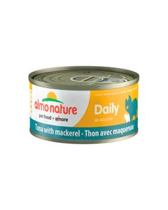 Almo Nature Daily Canned Wet Food for Cats - Tuna with Mackerel
