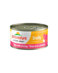 Almo Nature Daily Canned Wet Food for Cats - Tuna with Shrimps