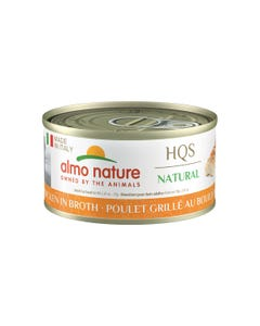 Almo Nature HQS Natural Made in Italy Canned Wet Food for Cats - Grilled Chicken in Broth