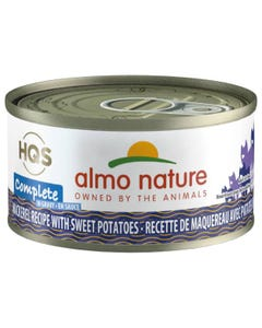 Almo Nature Complete - Mackerel Recipe with Sweet Potatoes in Gravy Canned Cat Food