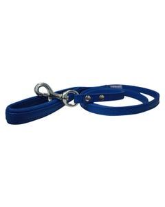 Angel Alpine Leather Dog Leash - Cobalt Blue