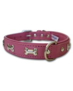 Angel Rotterdam Bones Dog Collar - Bubblegum Pink