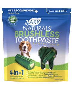 Ark Naturals Small Brushless Toothpaste Dental Chew for Dogs 8 to 20 lbs