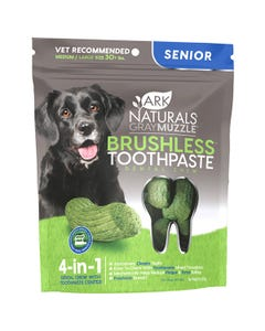 Ark Naturals Gray Muzzle Brushless Toothpaste Dental Chews for Medium to Large Senior Dogs