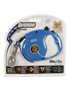 Avenue Retractable Cord Leash - Blue