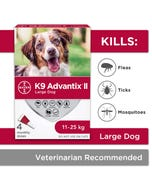 Bayer K9 Advantix II Topical Flea & Tick Protection for Large Breed Dogs