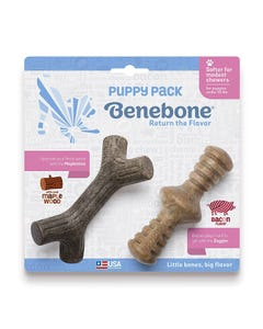 Benebone Puppy Zaggler & Maplestick Dental Chews - 2-Pack