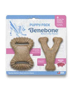 Benebone Puppy Bacon 2-Pack