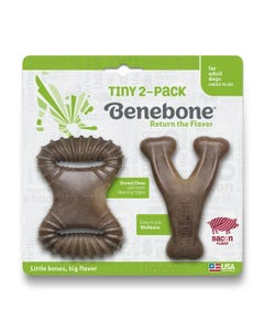 Benebone Tiny Bacon 2-Pack