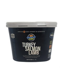 Big Country Raw Turkey Salmon Lamb Tub for Cats and Dogs