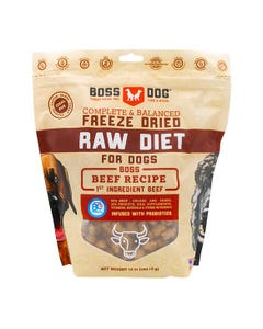 Boss Dog Complete & Balanced Freeze Dried Raw Diet for Dogs - Beef Recipe