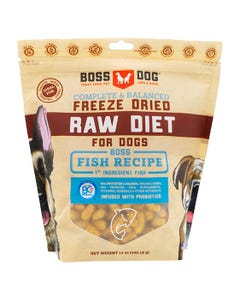 Boss Dog Complete & Balanced Freeze Dried Raw Diet for Dogs - Fish & Salmon Recipe