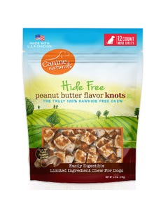 Canine Naturals Hide Free Peanut Butter Flavor Mini Knots