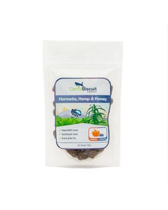CannaBiscuit Hermetia, Hemp & Honey Dog Treats - Pumpkin & Blueberry Recipe