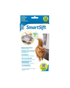 Catit Design SmartSift Replacement Liners for Cat Pan Base - 12 Pack