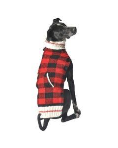 Chilly Dog - Buffalo Plaid Hand Knit Wool Dog Sweater