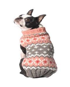 Chilly Dog - Peach Fairisle Dog Sweater