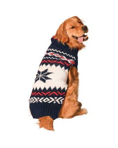 Chilly Dog - Navy Vail Dog Sweater