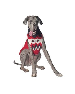 Chilly Dog - Red Fairisle Dog Sweater