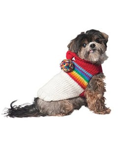 Chilly Dog - Vintage Ski Hoodie Dog Sweater