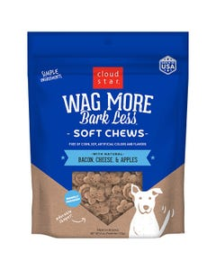 Cloud Star Wag More Bark Less Soft & Chewy - Bacon, Cheese & Apples
