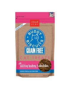 Cloud Star Grain Free Buddy Biscuits Cat Treats - Savory Turkey & Cheddar