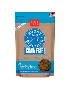 Cloud Star Grain Free Buddy Biscuits Cat Treats - Tempting Tuna