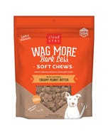 Cloud Star Wag More Bark Less Soft & Chewy - Creamy Peanut Butter