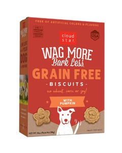 Cloud Star Wag More Bark Less Grain Free Baked Biscuits - Pumpkin