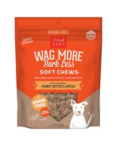 Cloud Star Wag More Bark Less Soft & Chewy - Peanut Butter & Apples
