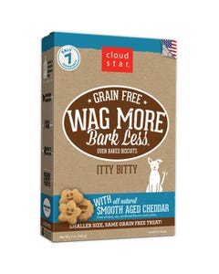 Cloud Star Wag More Bark Less Grain Free Itty Bitty Baked Biscuits - Cheddar