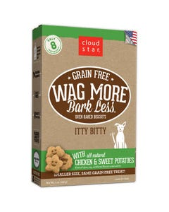 Cloud Star Wag More Bark Less Grain Free Itty Bitty Baked Biscuits - Chicken & Sweet Potato