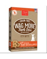 Cloud Star Wag More Bark Less Grain Free Itty Bitty Baked Biscuits - Peanut Butter & Apples