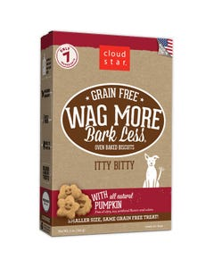 Cloud Star Wag More Bark Less Grain Free Itty Bitty Baked Biscuits - Pumpkin