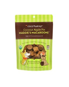 CocoTherapy Maggie's Macaroons Dog Treats - Coconut Apple Pie