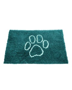 Dog Gone Smart Dirty Dog Doormat - Petrol with Turquoise