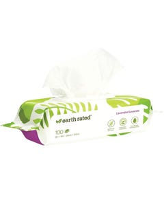 Earth Rated Certified Biobased Dog Wipes - Lavender Scented