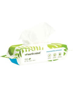 Earth Rated Certified Biobased Dog Wipes - Unscented