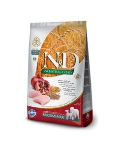 Farmina Natural & Delicious Ancestral Grain Dog Food - Chicken & Pomegranate Adult Medium & Max