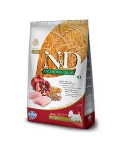 Farmina Natural & Delicious Ancestral Grain Dog Food - Chicken & Pomegranate Adult Mini